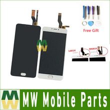 1 PC/Lot Para Meizu M3 Nota L681H M681H Pantalla LCD + Pantalla Táctil Digitalizador Asamblea Negro Color Blanco Con Herramientas