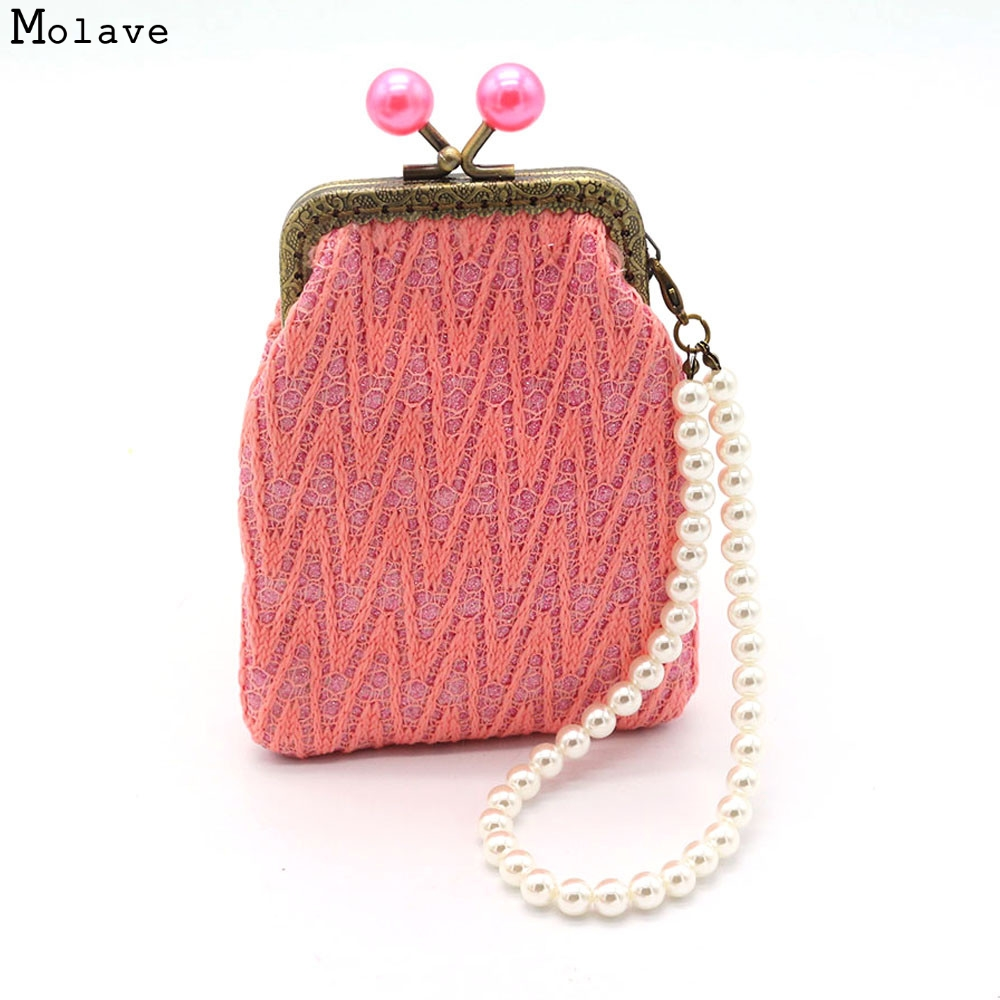 Naivety drop shipping Coin Purse New Gift Women Retro Lace Small Hasp Wallet Coins Pocket Clutch Bag AUG18