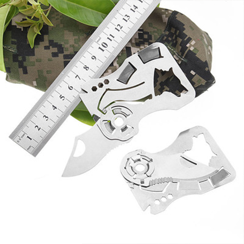 Mini Knife Outdoor Self-defense EDC Tool Wallet Credit Card Knife Outdoor Folding Knife Pendant Hand Tools Small And Exquisite