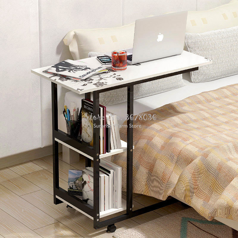 Simple Desktop Computer Desk Notebook Computer Table Study Writing Table Household Domoty Mobile Bedside Desk Computer Stand