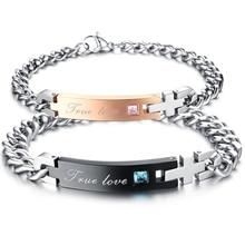 Jewelry 2 pcs Men s Women s Bracelet Valentine s Day Love Friendship Bracelet True Love