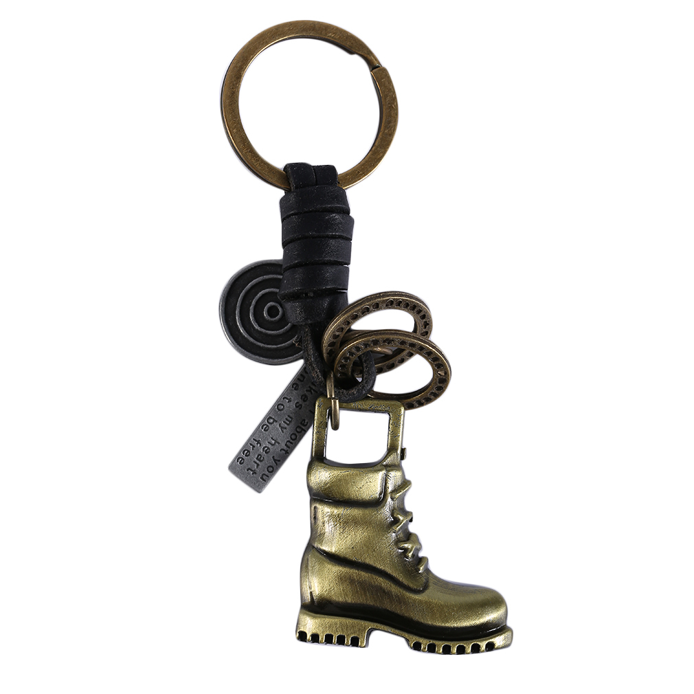 GENBOLI Vintage Bronze Design Keychains clock boots key Pattern Purse Bag Buckle Pendant fashion jewelry JYL