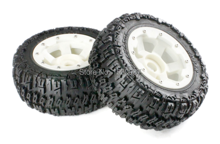 High strength nylon knobby Front tire X 2pcs/set for 1/5 scale HPI BAJA 5T, free shipping купить