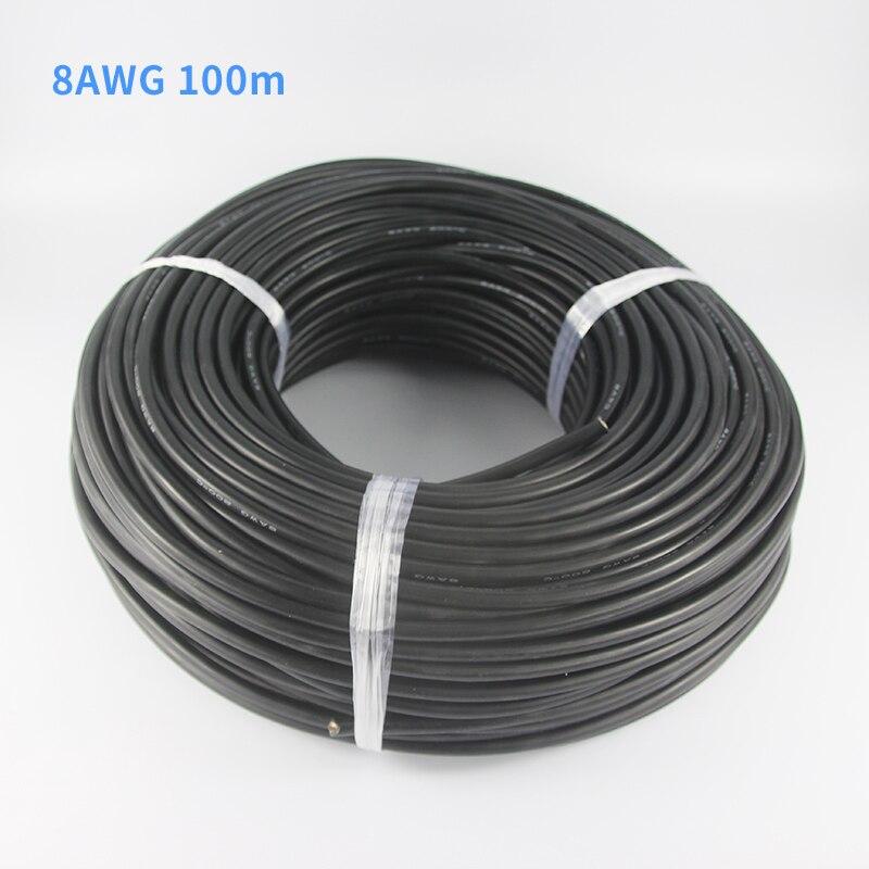 100 Metro/roll Rosso Nero Blu prova di Calore Silicone Morbido Wire 8AWG Per RC Lipo Batteria Modello Parte (1650/0. 08, OD: 6.5)-in Componenti e accessori da Giocattoli e hobby su  Gruppo 1