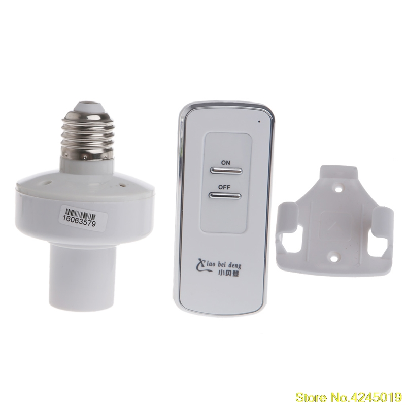 2018 High quality Wireless Remote Control E27 Screw Light Lamp Bulb Holder Cap Socket Switch