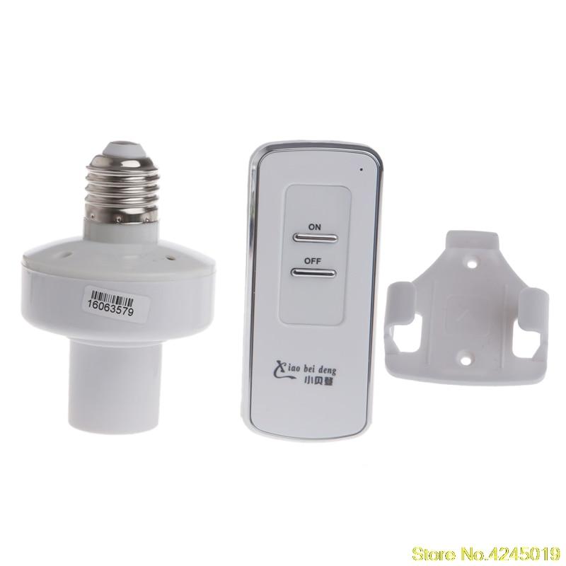 2018 High quality Wireless Remote Control E27 Screw Light Lamp Bulb Holder Cap Socket Switch e27 wireless remote control switch light bulb socket white ac 110 220v