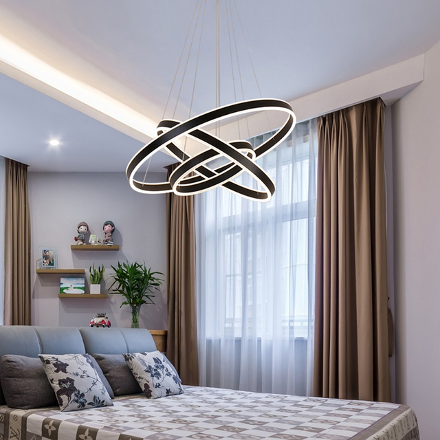 Modern Pendant Lights For Living Room Dining Room Circle Ring Smart Home  Decoration LED Lighting Ceiling
