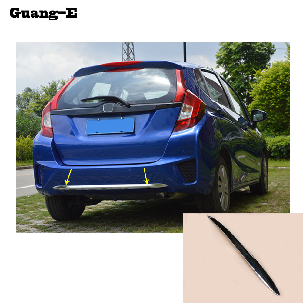Car body cover protection Bumper ABS Chrome trim rear back tail bottom hoods parts 1pcs For Honda Fit jazz 2014 2015 2016 2017 for toyota corolla altis 2014 2015 2016 car body styling cover detector abs chrome trim front up grid grill grille hoods 1pcs