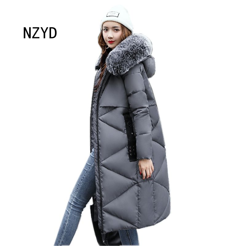 Women Warm Parkas 2017 New Fashion Hooded Medium long Down Cotton Jacket Long sleeve Loose Big yards Female Coat LADIES282 2017 new women winter parkas fashion hooded thick warm medium long down cotton jacket long sleeve loose big yards female coat