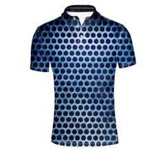 FORUDESIGNS Wholesale Stylish Mens Polo Shirt Geometric Short-Sleeve Slim Fit Male Cotton polo Shirts Casual Camisa