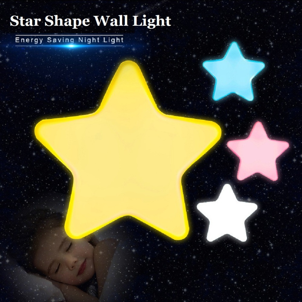 Auto-control Switch Anti-fall Lighting Light Star Shape Led Wall Light Energy Saving Home Decoration Sensor Night Light Us Plug To Ensure A Like-New Appearance Indefinably Security & Protection