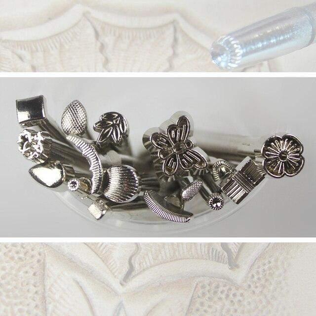 16 unids paquete artesanía de Cuero cuero vintage talladores ...