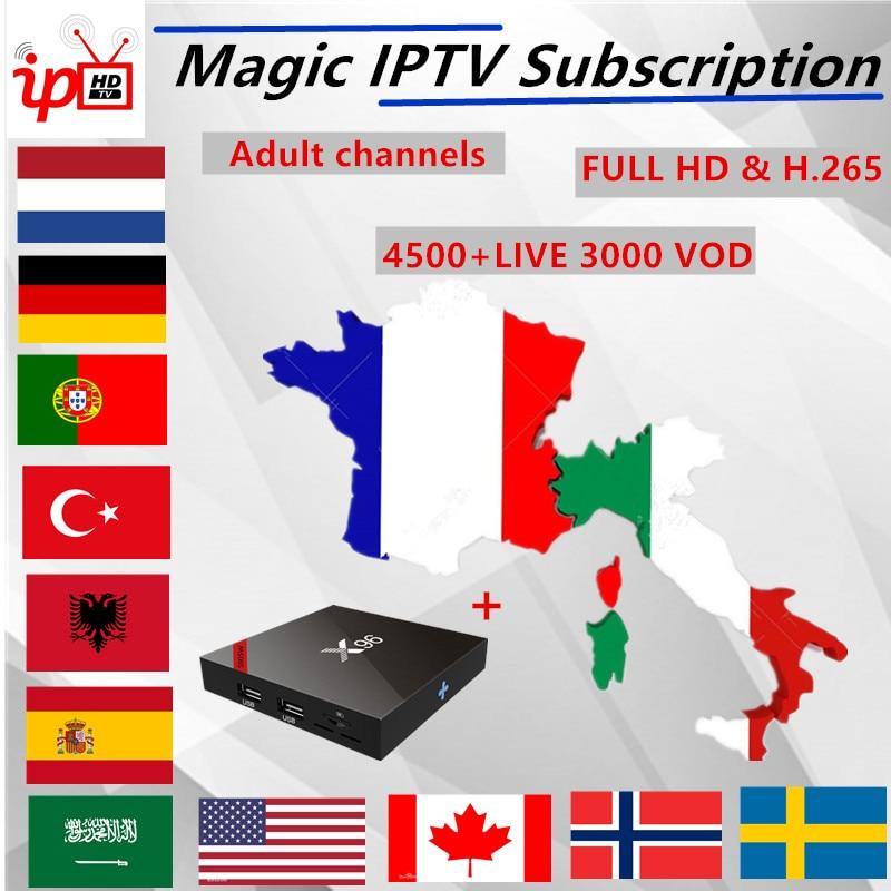 UK IPTV Europe Arabic French IPTV abonnement HD Italia Netherlands Turkey Spain Sweden Norway Portugal france IPTV M3U IPTV-in Set-top Boxes from Consumer Electronics