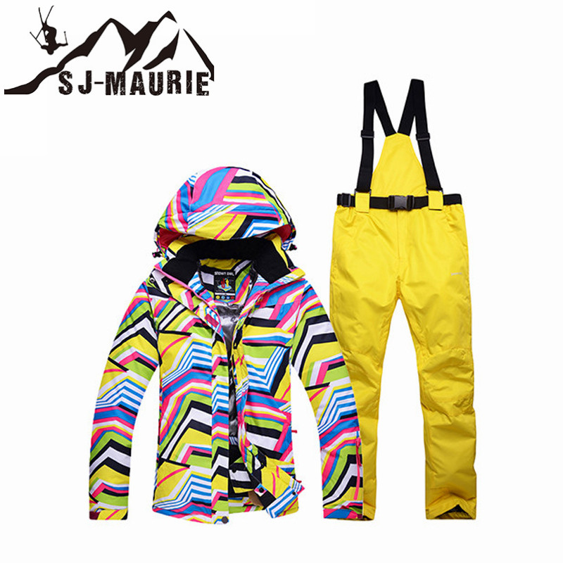 SJ-Maurie Ski Jacket Women Ski Suit Waterproof Snowboard Suit Outdoor Winter Warm Hiking Ski Jacket+Pants for Girls Snow SuitSJ-Maurie Ski Jacket Women Ski Suit Waterproof Snowboard Suit Outdoor Winter Warm Hiking Ski Jacket+Pants for Girls Snow Suit