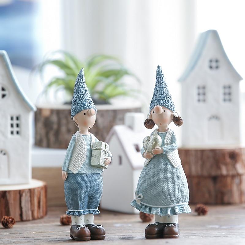 Image 3 - Miz 1 Pair Resin Figurine Christmas Gift Toy for Children Couple Doll Boy & Girl Figure Christmas Decoration Accessoriestoys fortoys for childrentoys toys -