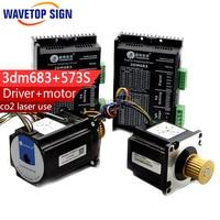 Laser Machine Three Phase Motor 573s09 L 573s15 L Leadshine 3phase Stepping Driver 3DM683 2PCS