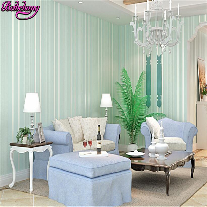 beibehang papel de parede stripe wallpaper solid color nonwoven wall paper bedroom the bedroom of warm living room TV set wall beibehang vertical striped embroidery diamond in the mediterranean bedroom living room wallpaper tv wall papel de parede