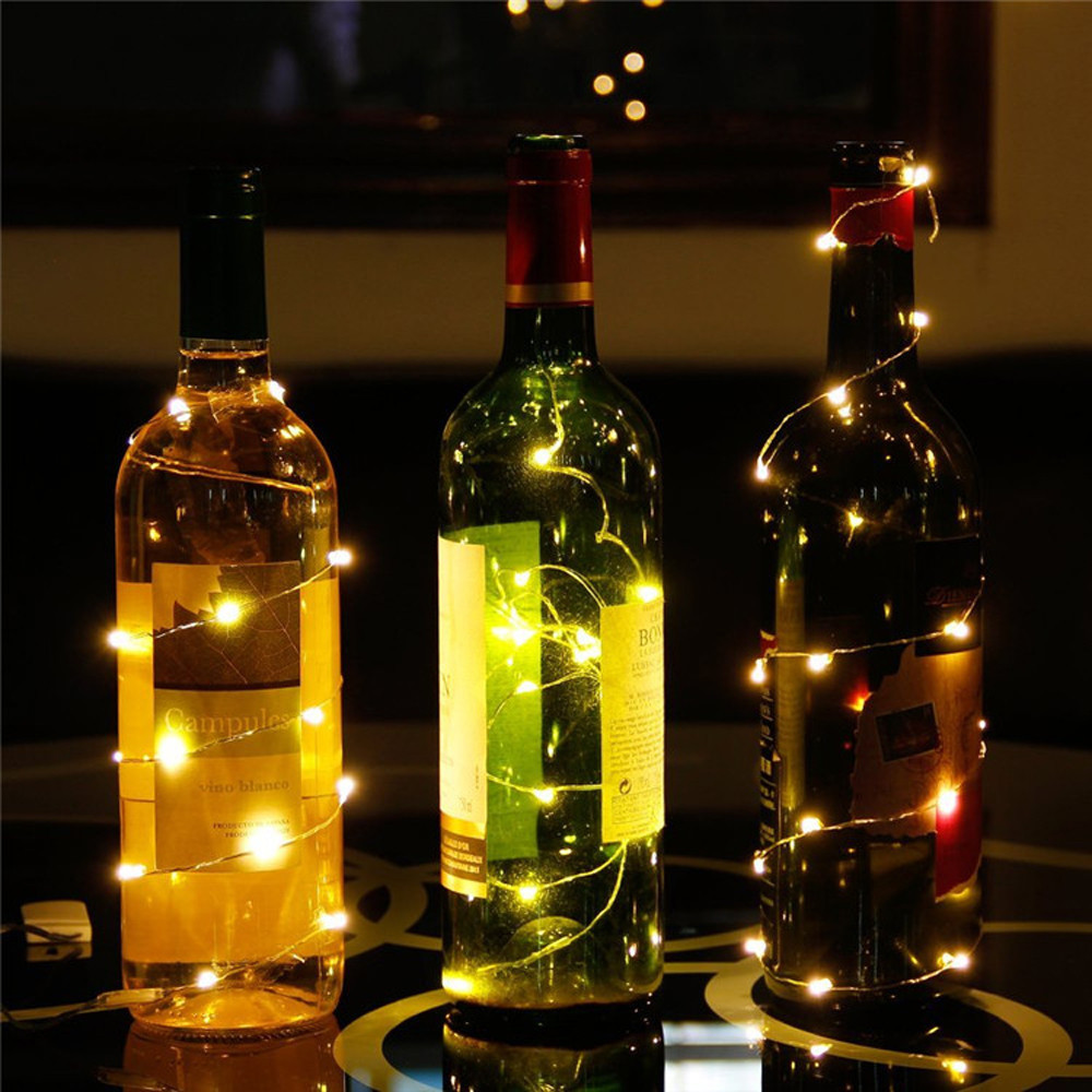 US $1.04 10% OFF|New Fashion Wine Cork Lights Home Bottle Decoration Wine  Bottle Cork Lights Copper Wire String Lights for Wedding Party Decor-in LED  ...