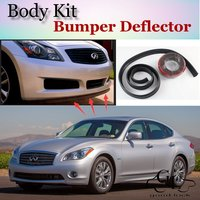 For Infiniti M M30d M25 M35h M45 M37 M56 Q70 Bumper Lip / Front Spoiler Deflector For Car Tuning View / Body Kit / Strip Skirt