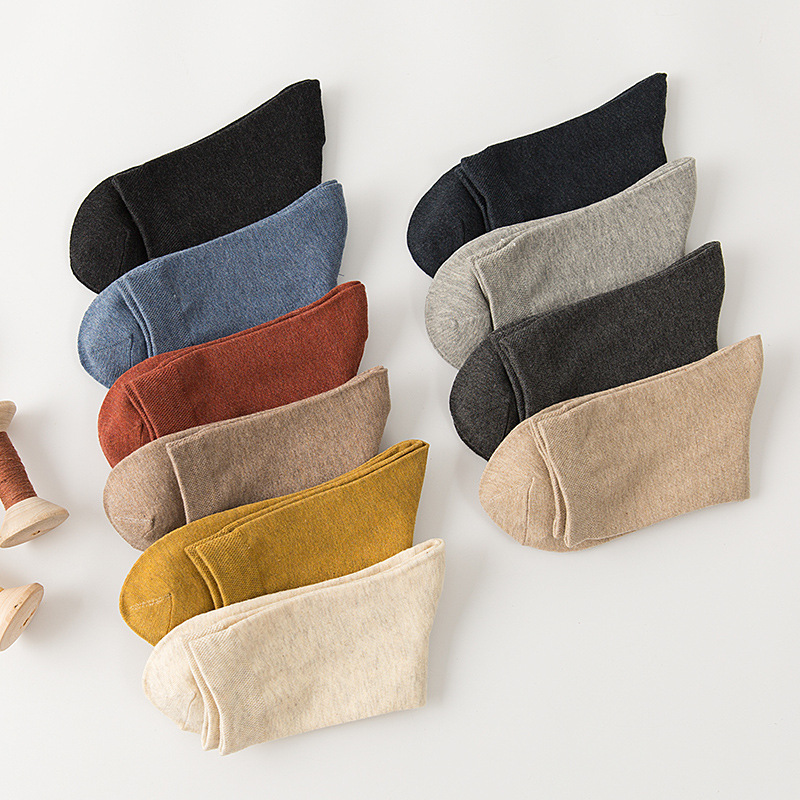 Socks Men 2019 New Spring Casual 5 Pairs Long Business Cotton Breathable Long Socks For Man Solid Color Socks Man
