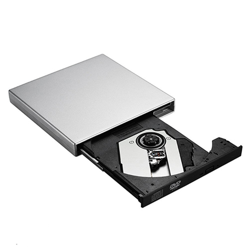 все цены на  USB 2.0 External DVD ROM Optical Drive CD RW Burner dvd/cd-rom Combo Writer Recorder Portatil for Laptop Computer pc Windows 7/8  онлайн