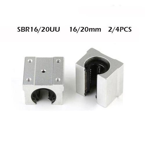 2/4 шт SBR20UU SBR16UU 20 мм 16 мм линейный подшипник открытый подшипник скользящий блок CNC часть линейная направляющая для линейной направляющей