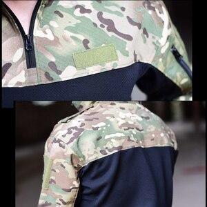 Image 5 - Mege טקטי צבאי ציוד לחימה חולצה הסוואה מרובה שחור גברים נשים חולצה טקטית Airsoft CS ללכת בגדי טיפון