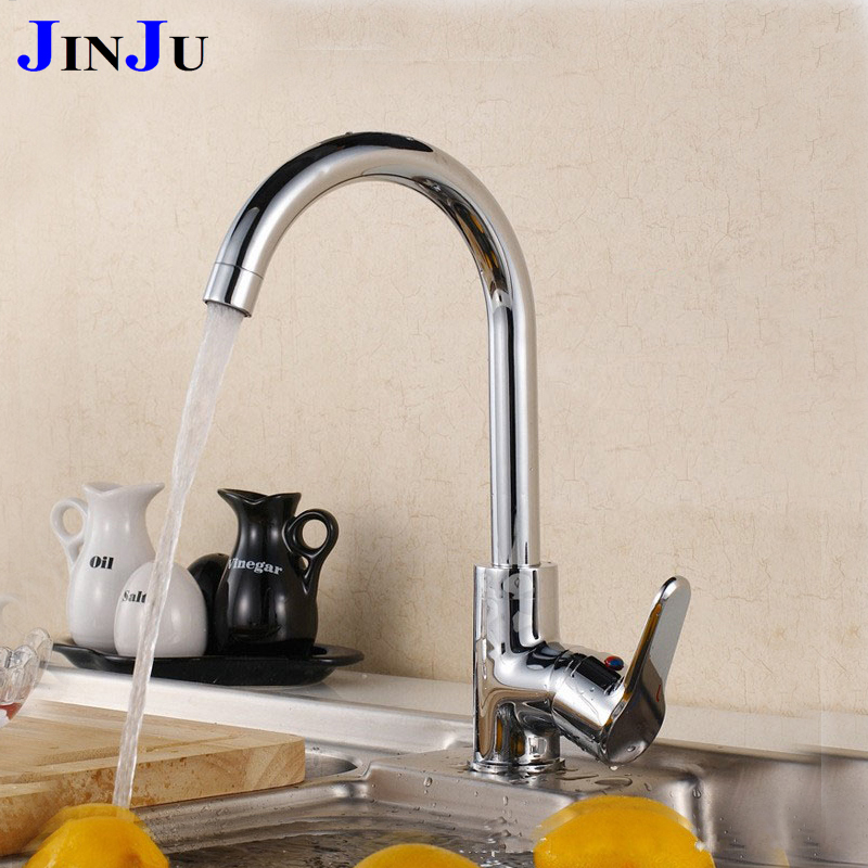 High Quality Free Shipping Kitchen Faucet Tap Single Type Mixed Water Deck  Mounted JJJK  Part 98