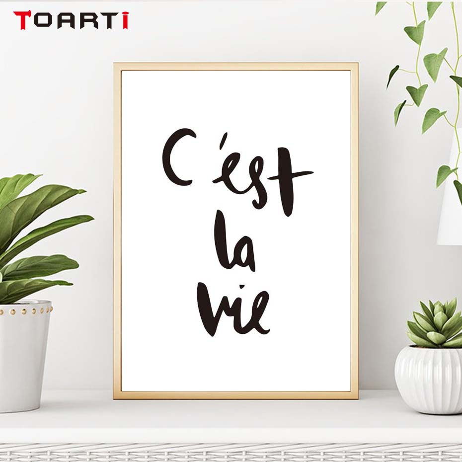It 39 S Life French Print C 39 Est La Vie Canvas Art Painting Poster Print Picture Wall Child Room Bedroom Home Decoration in Painting amp Calligraphy from Home amp Garden