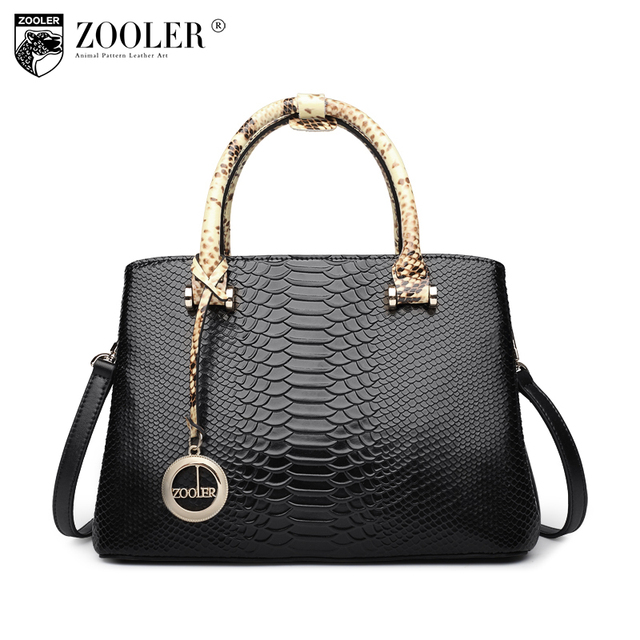 New Product S Zooler Brand Elegant Cowhide Bags Pattern Handbag Top Handle Genuine Leather Bag Women