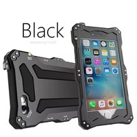R JUST Metal Armor Outdoor Shockproof Life Waterproof Protection Phone Cases For iPhone 5 5S SE+Gorilla Glass Case
