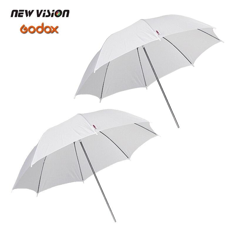 "Prix pour Godox 2 PCS 43 "" 108 cm tendre blanc diffuseur Studio Photography translucide Umbrella pour Flash de Studio Strobe eclairage"