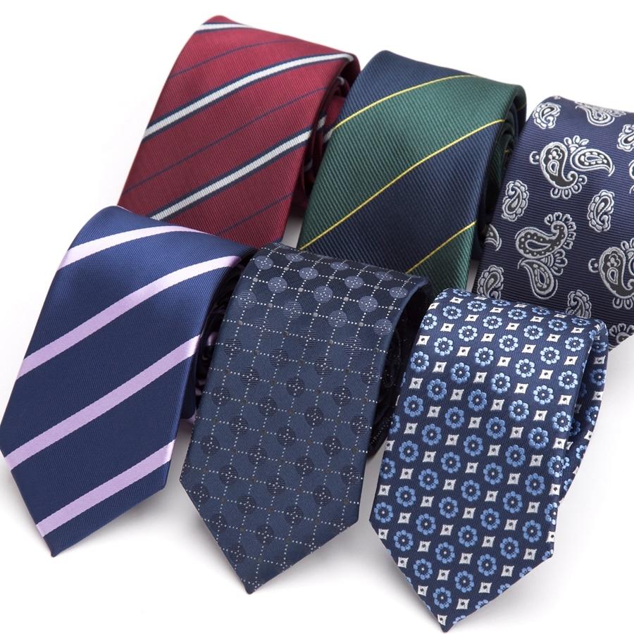 Men Tie 7CM Formal Striped Necktie Business Wedding Fashion Jacquard Ties For Mens Dress Shirt Accessories Corbatas Para Hombre