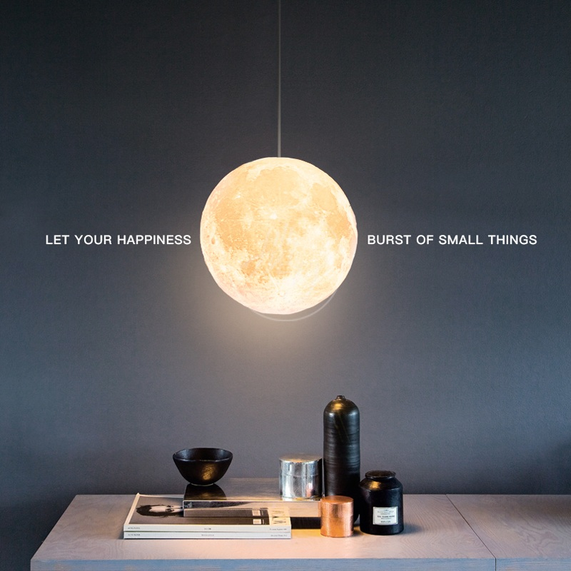 Artpad Nordic Creative 3D Print Moon Light Home Indoor Lighting Restaurant Coffee Shop Bar Bedroom Living Room Ball Pendant Lamp худи print bar detective