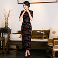 Free Shipping New Sale Long Qipao Chinese Women's Clothing Velvet Cheong-sam Dress Long Qipao For Women