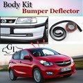 Бампер для губ  дефлектор для губ Opel Karl  передний спойлер  юбка для автомобиля  устойчивая к царапинам клейкая лента/комплект для тела/Автомо...