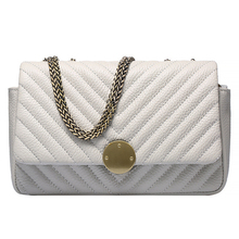 QIANGSHILI Brand Retro Striped Genuine Leather Quilted Chain Bag Messenger Flap Luxury Handbags Women Bags Designer High Quality