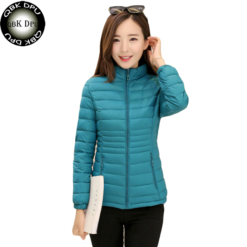 Cute Candy Colors Warm   basic     Jacket   For Female Fashion Street Wear Cotton Wadded Short   Jacket   Plus Size Overcoat Parka Mujer