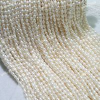 Wholesale 10 Strands Genuine 6 7mm White Natural Freshwater Cultured Rice Pearl Loose Beads 15