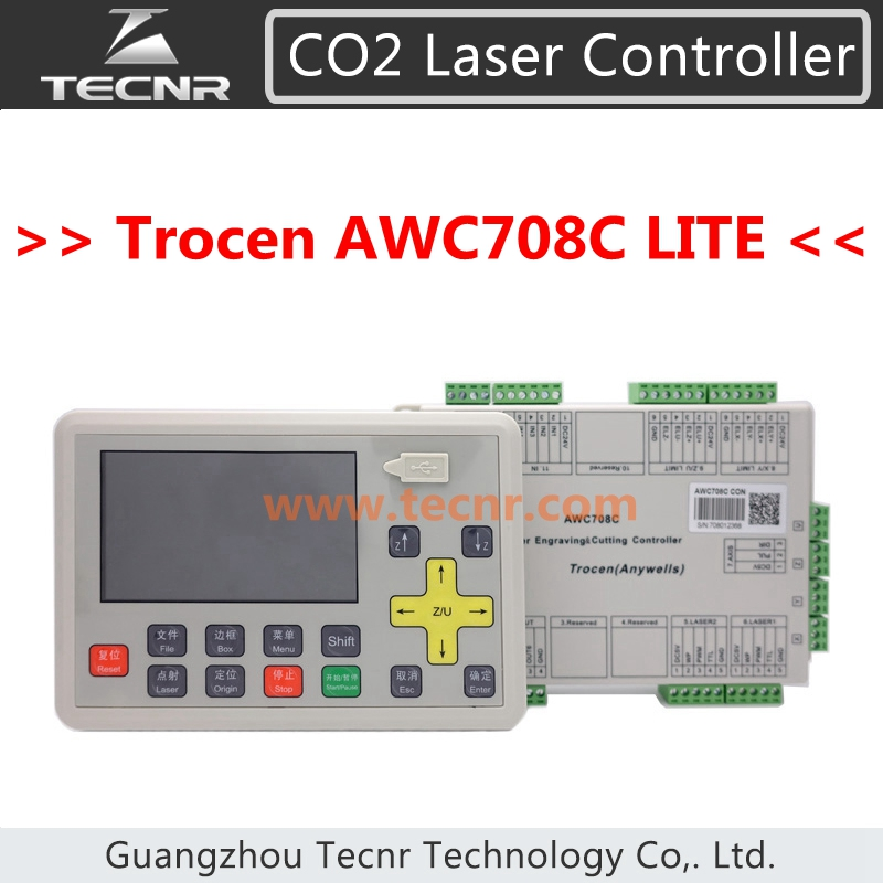 CO2 laser DSP controller system Trocen AWC708C Lite for laser cutter engraver,replace AWC608 awc708c ccd vision positioning co2 laser controller system laser machine ccd control systemfor laser cutter engraver machine
