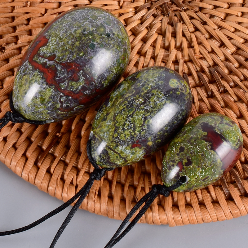 Jade Egg Set Drill Natural Obsidian Yoni Egg Mineral Quartz Healing Massage Ball Kegel Exercise Pelvic Floor Muscle