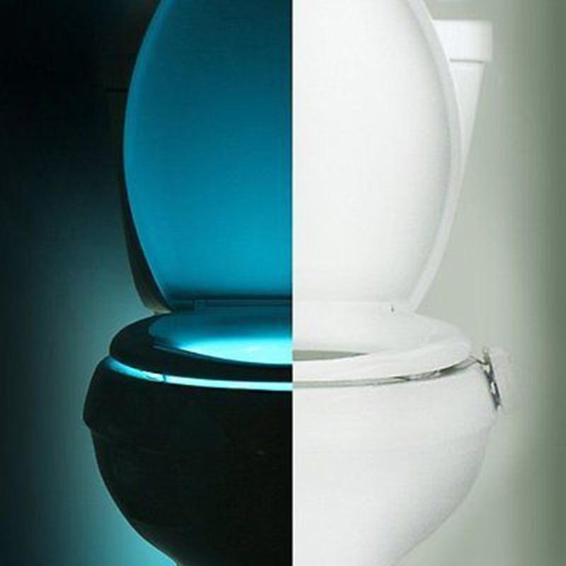 Litwod Z20 Human Motion Activated PIR Sensor Toilet Light LED Lamp8 Colours Automatic RGB Night lighting Toilet Nightlight vasos sanitários coloridos