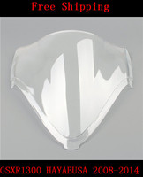 For SUZUKI GSXR1300 HAYABUSA 2008 2014 08 14 GSXR 13000R GSXR 1300R 1300 motorcycle Double bubble windshield windscreen white