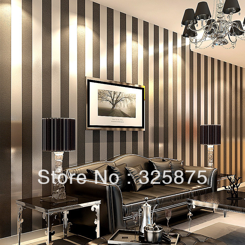 Stripe Zebra Blackwall Paper Wallpaper Roll Modern Feature Vertical Stripedwallpaper Wallpaper