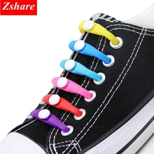 12Pcs/Set Fashion Round Silicone Shoelaces Unisex Elastic No Tie Shoe laces Lazy Rubber Shoelace For All Sneakers