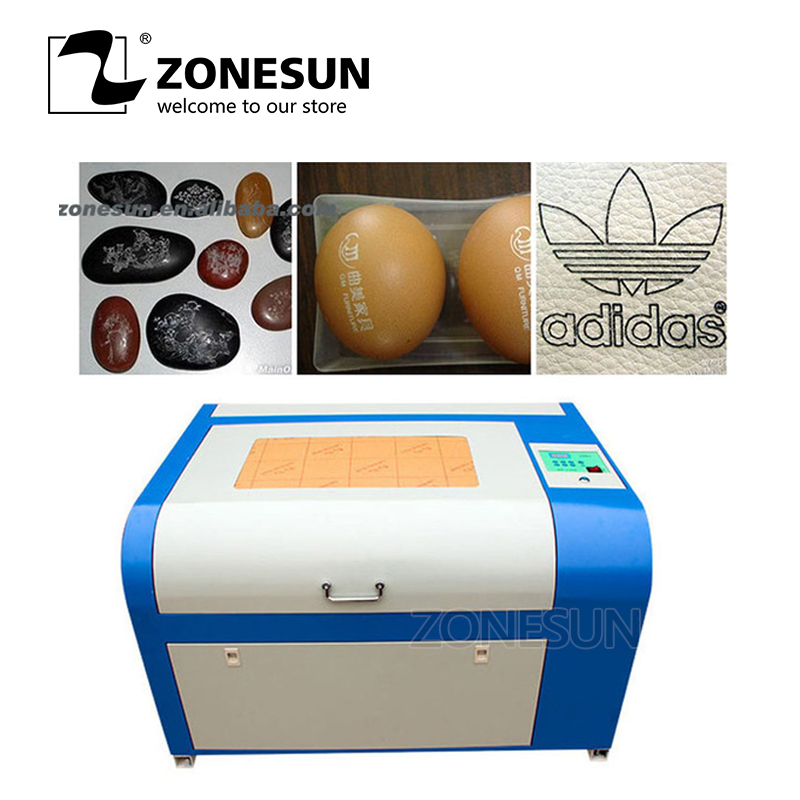 ZONESUN 110/220V 50W 400*600mm Mini CO2 <font><b>Laser</b></font> Engraver Engraving Cutting Machine <font><b>4060</b></font> <font><b>Laser</b></font> With USB Support image