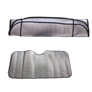 Image 2 - 2Pc Car Curtains Casual Foldable Car Windshield Visor Cover Front Rear Block Window Sun Shade Sunblind For Auto Car Accessories