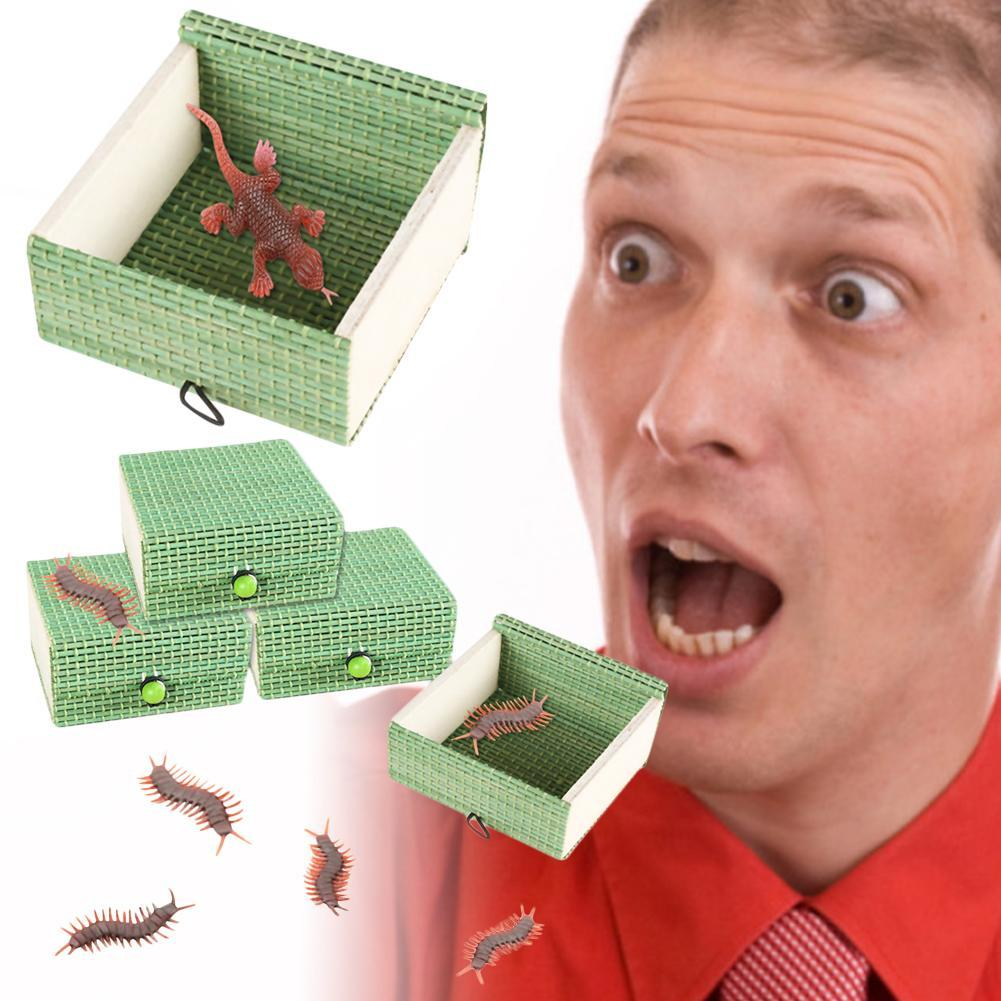 April Fool's Day Spooky Parody Funny Small Wooden Box Spider Girls Spooky Prank Tricky Box Novelty Gags And Practical Jokes