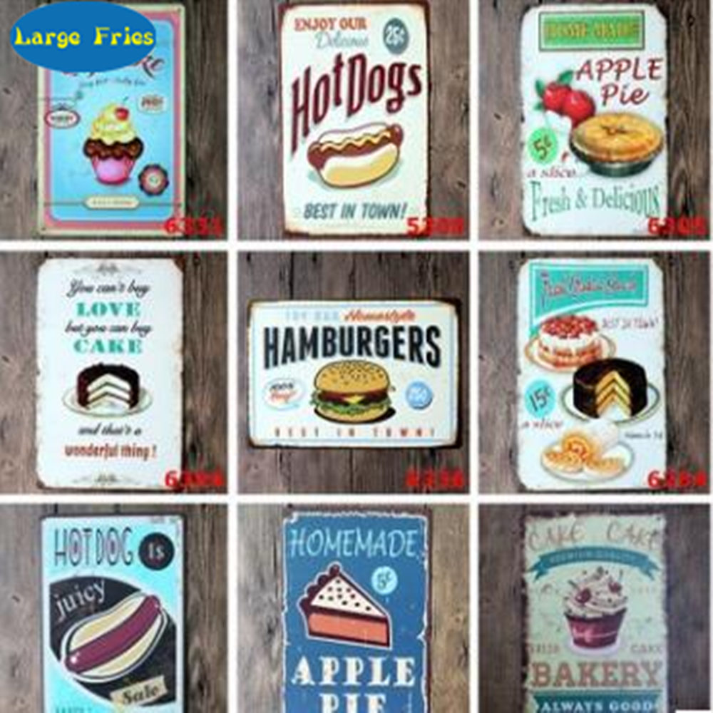 Metal Tin Sign sugar cookies Decor Bar Pub Home Vintage Retro Poster