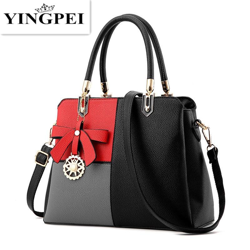 YINGPEI Woman Handbag Fashion Designers Casual-bag Bolsas Femininas Famous Brand Patchwork Tote Leather Bag Lady Handbags